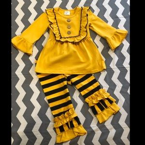 Other - Baby/Girls Black and Mustard Yellow Outfit